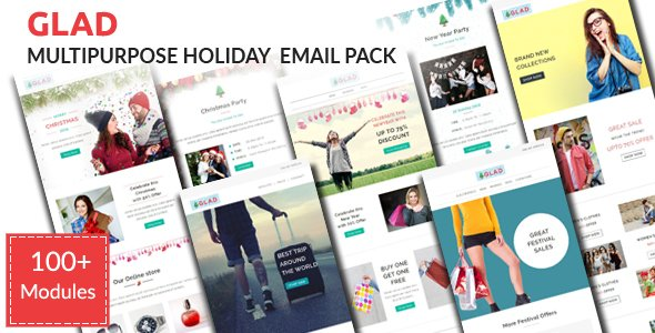 GLAD - Multipurpose Holiday Email Pack with Stampready Builder Access