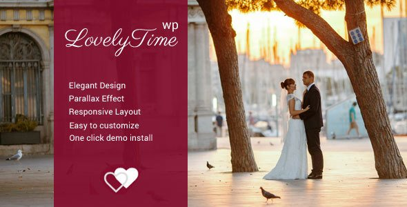LovelyTime – Engagement & Wedding WordPress Theme  – Download and Free Demo