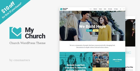 My Church – Church WordPress Theme with Events, Donations & Sermons  – Download and Free Demo