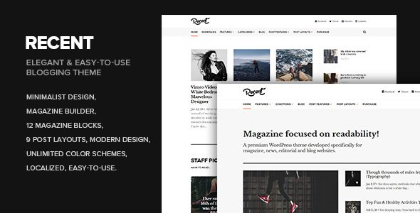 Recent – Magazine WordPress theme focused on readability  – Download and Free Demo