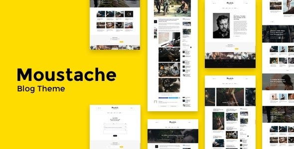 Moustache | Blog Theme            – Download and Free Demo