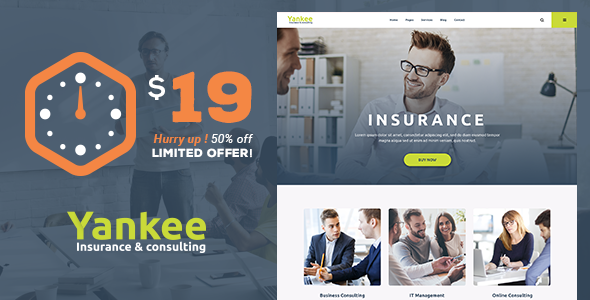 Yankee – Insurance & Consulting WordPress Theme            – Download and Free Demo