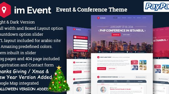 im Event - Event Conference Landing Page