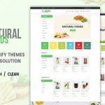 Natural Food – Responsive Drag & Drop Shopify Theme | Themeforest Website Templates and Themes