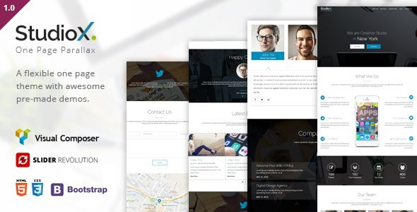StudioX – One Page WordPress  – Download and Free Demo