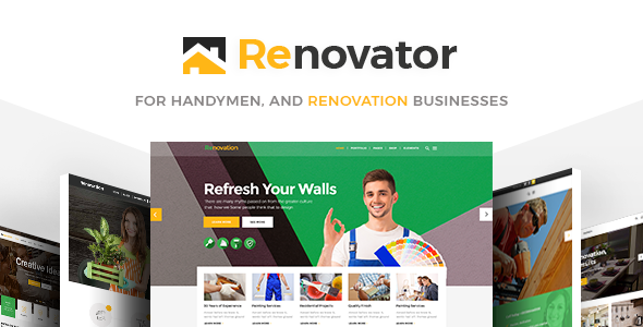 Renovator – A Theme for Repairman, Contractors and Renovation Businesses            – Download and Free Demo