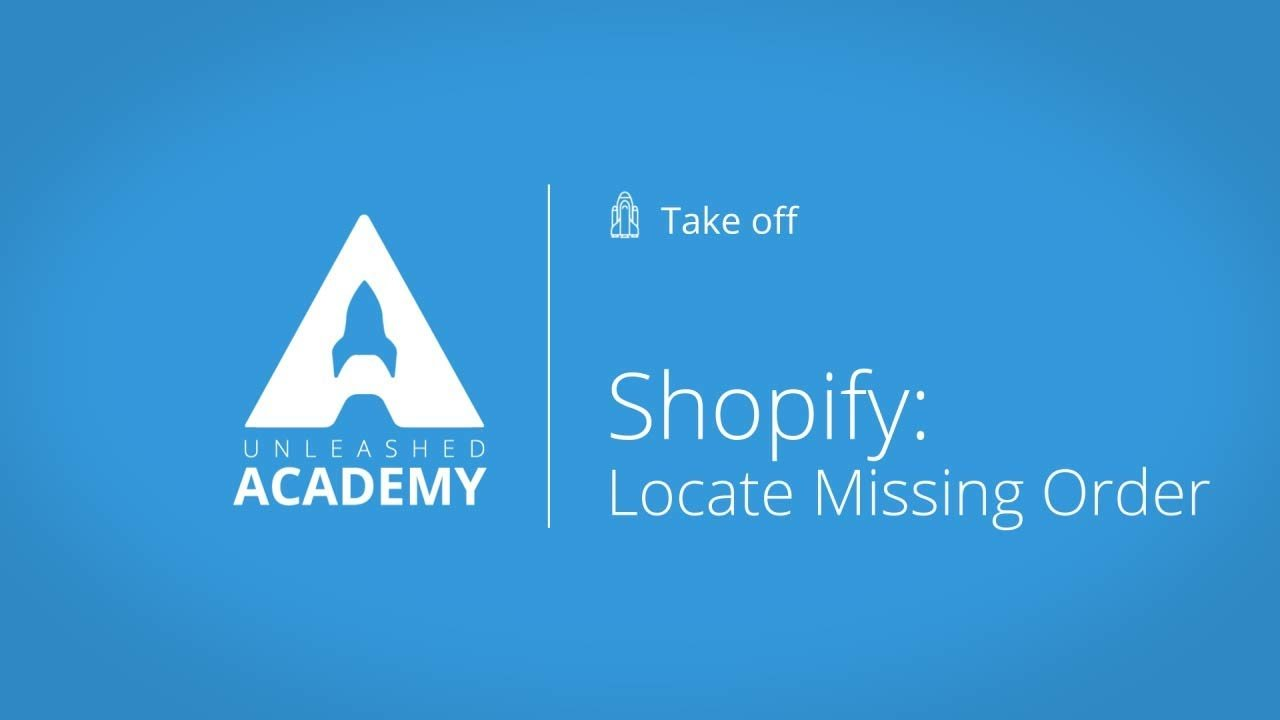Inventory Management – Shopify: Locate missing order
