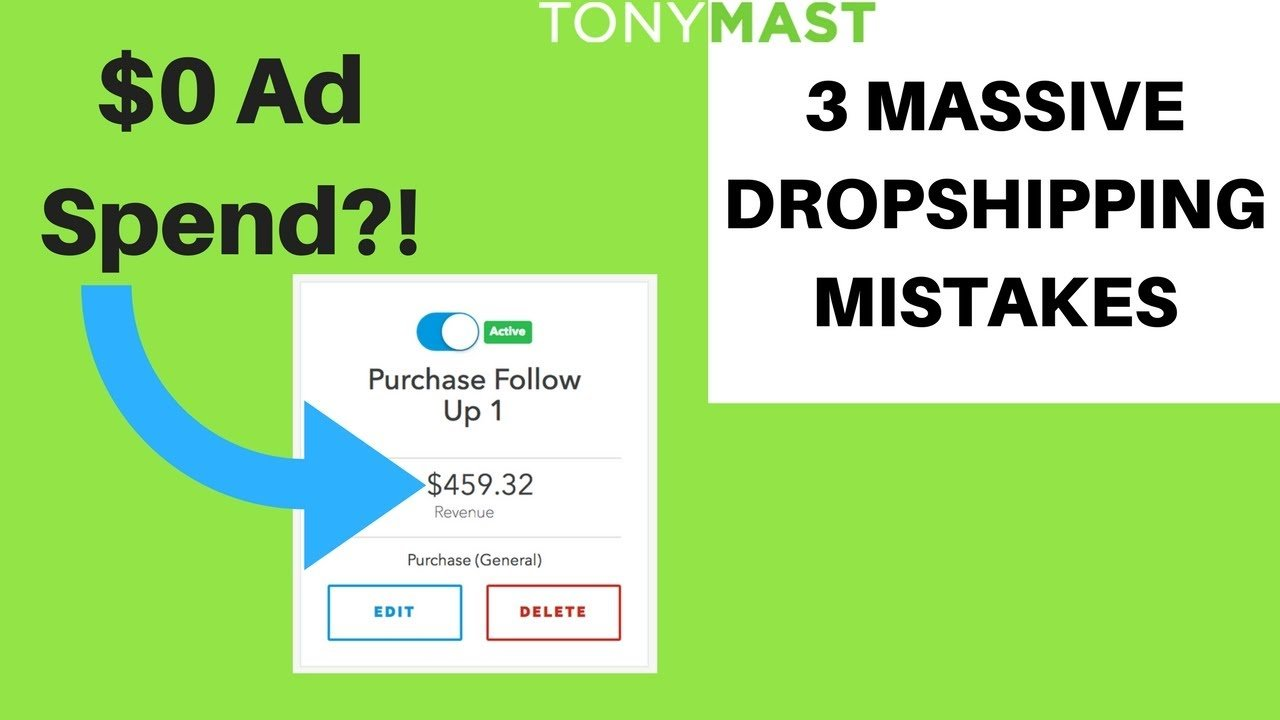 YOUR 3 BIGGEST MISTAKES DROPSHIPPING ON SHOPIFY
