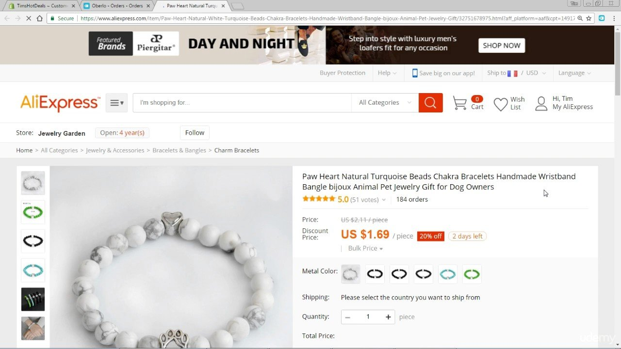 Make Money The Complete Shopify Aliexpress Dropship course Automatic fulfillment almost with Oberlo