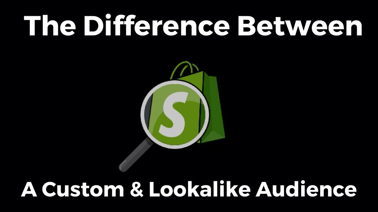 What's The Difference Between A Custom & A Lookalike Audience – Shopify Drop Shipping Tutorial