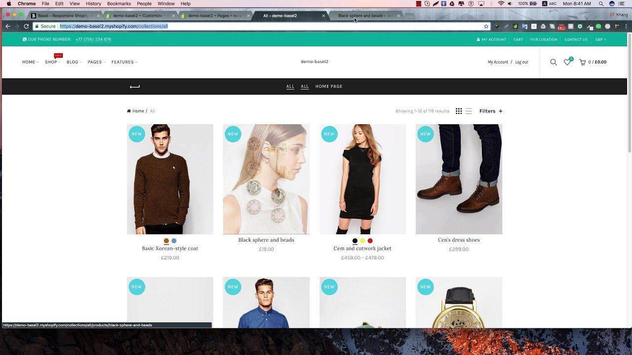 Basel Shopify – Config recently viewed products