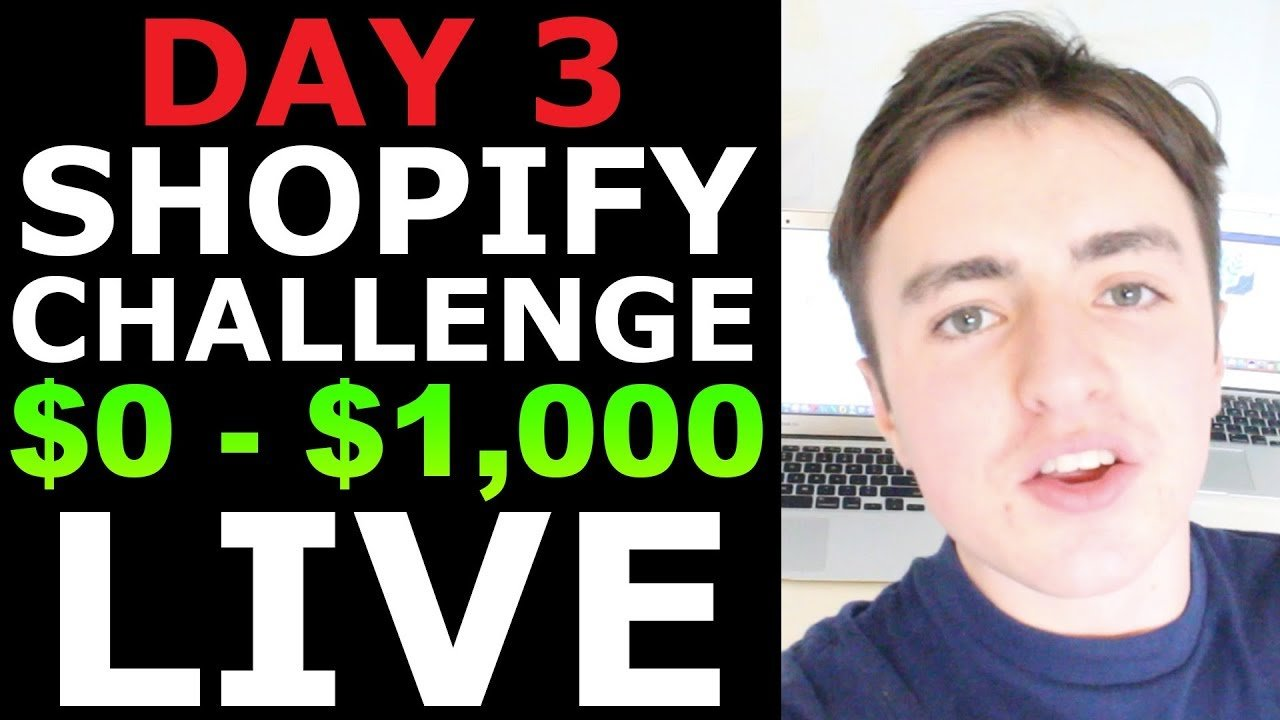 (Day 3) SHOPIFY CHALLENGE: MAKING OUR FIRST $100 IN SALES WITH INSTAGRAM INFLUENCERS LIVE